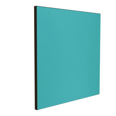 Wandabsorber schwarz 125 x 125 x 6 cm mit Akustikstoff in Aquamarin F628