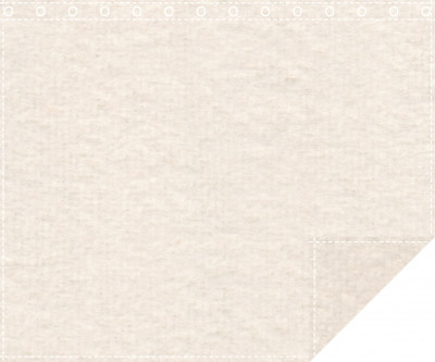 Akustikbackdrop 600g/m² natur 3m x 2,2m geöst 3m breit