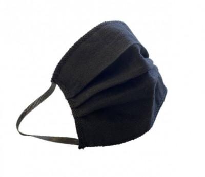Waschbare Mund-Nasen-Maske mit Gummi schwarz , Made in Germany, wiederverwendbar
