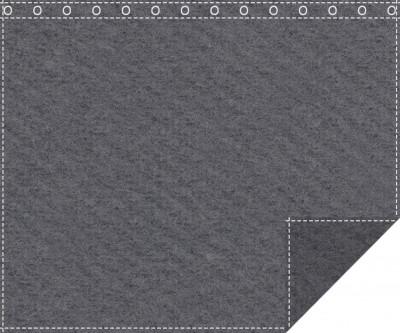 Klassiker 1.100g/m² anthrazit 3m x 2,0m geöst