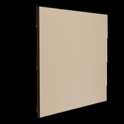 Wandabsorber schwarz 125 x 125 x 6 cm mit Akustikstoff in Natur F511