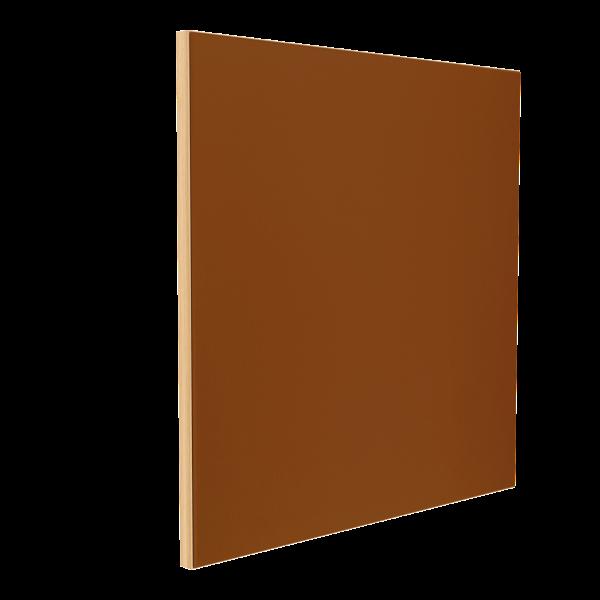 Wandabsorber natur 125 x 125 x 6 cm mit Akustikstoff in Braun F545