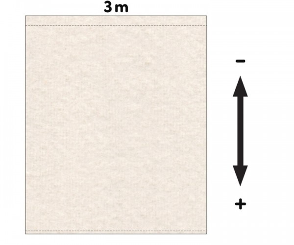 Fotohintergrund  Meterware Dekomolton 160g/m² natur 3m