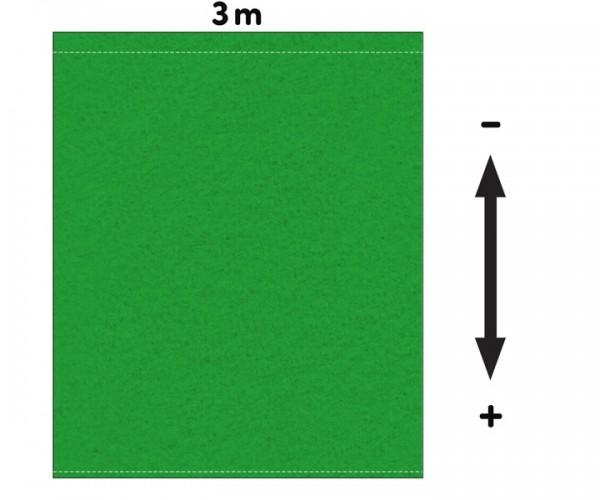 Fotohintergrund  Meterware Bühnenmolton 300g/m² greenbox 3m