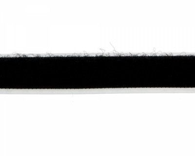 25m Flauschband selbstklebend schwarz 20mm