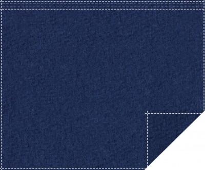 Akustikblackout 1500g/m² royalblau 1,9m x 1,5m Faltenband