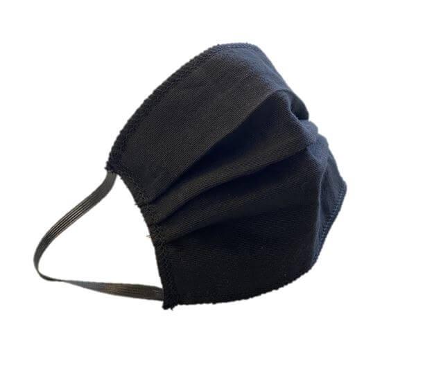 10x Waschbare Mund-Nasen-Maske mit Gummi, schwarz, Made in