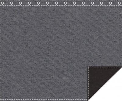Akustikblackout 1500g/m² anthrazit | schwarz 1,9m x 1,5m geöst