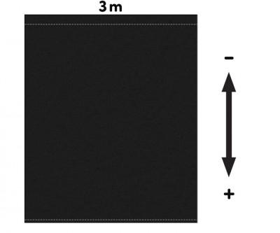 Fotohintergrund Bühnenmolton 300g/m² schwarz 3m x 3m