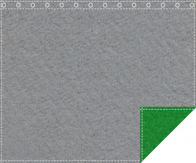Akustikblackout 1500g/m² schiefergrau | greenbox 1,9m x 1,5m geöst