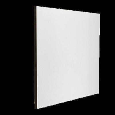 Wandabsorber schwarz 125 x 125 x 6 cm mit Akustikstoff in Weiß F303