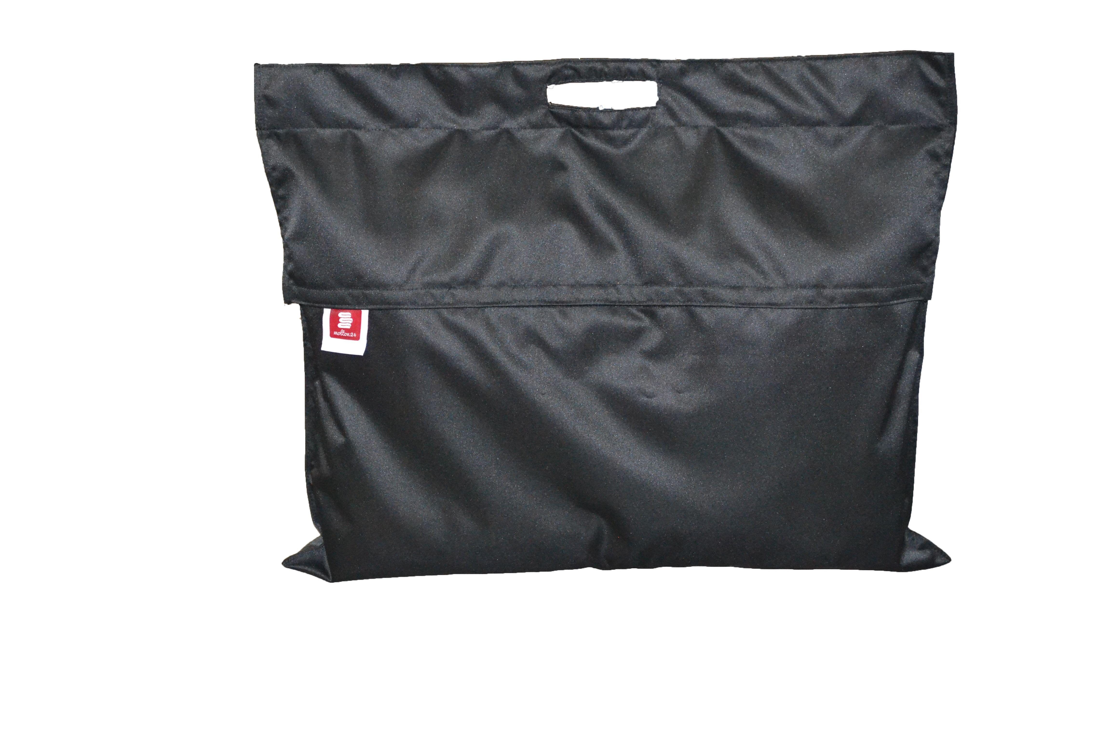 schutztasche f r vorh nge schwarz zubeh r molton stoffe molton vom fachspezialisten. Black Bedroom Furniture Sets. Home Design Ideas