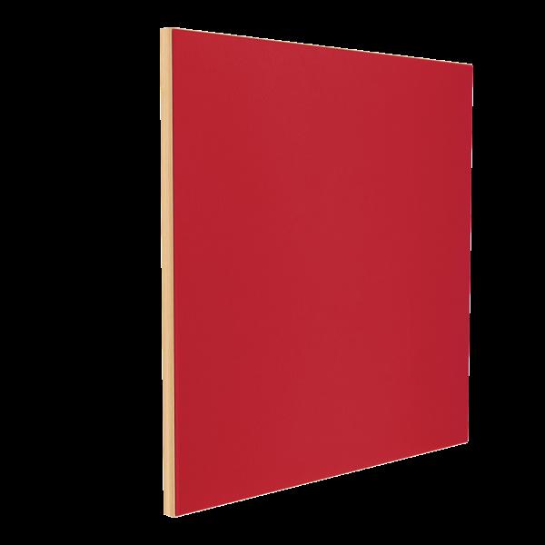 Wandabsorber natur 125 x 125 x 6 cm mit Akustikstoff in Rot F466