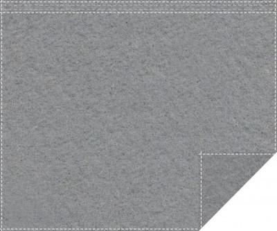 Akustikblackout 1500g/m² schiefergrau 1,9m x 1,5m Faltenband