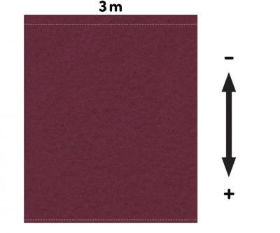 Fotohintergrund Meterware Bühnenmolton 300g/m² bordeaux 3m