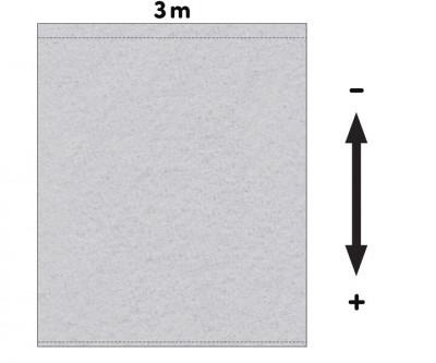 Fotohintergrund Meterware Nessel 200g/m² grau 3,2m