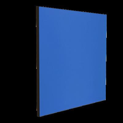 Wandabsorber schwarz 125 x 125 x 6 cm mit Akustikstoff in Blau F162