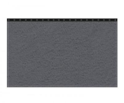Backdrop 300g/m² anthrazit 3m (geöst) x 3m mit silber 40mm Ösen