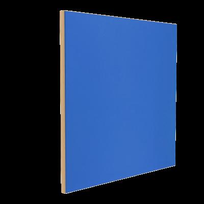 Wandabsorber natur 125 x 125 x 6 cm mit Akustikstoff in Blau F162