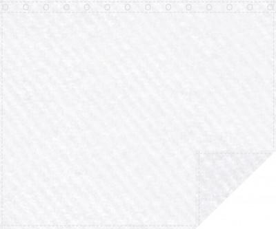 Akustikbackdrop 600g/m² weiß 3m x 2,0m geöst 3m breit