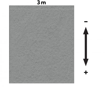 Fotohintergrund Meterware Dekomolton 160g/m² grau 3m