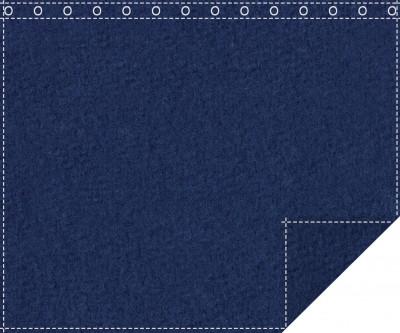 Akustikblackout 1500g/m² royalblau 1,9m x 1,5m geöst